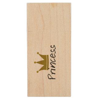 Princess Maple, 8gb, Rectangle Wood USB Flash Drive