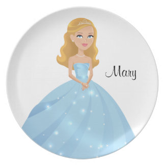 Princess Melamine Plate Personalized