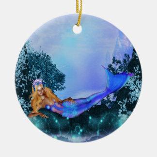 Princess Mermaid Ceramic Ornament