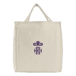 Princess Monogram Tote Canvas Bag