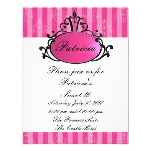 Princess Name Filigree Custom Invite