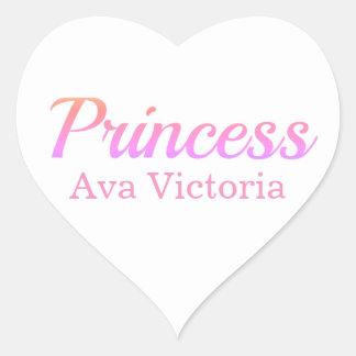 Princess Name Stickers