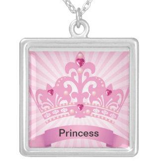 Princess Square Pendant Necklace