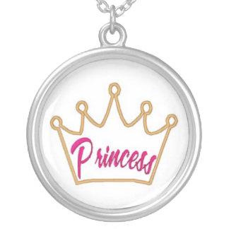 princess necklas round pendant necklace
