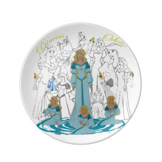 """Princess Odette Porcelain Sketch Plate (8.5"""")"""