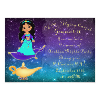Princess of Arabian Nights Slumber Party Invite
