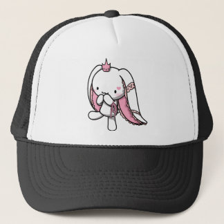 Princess of Hearts White Rabbit Trucker Hat