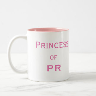 Princess of PR Funny Female Public Relations Name Two-Tone Coffee Mug