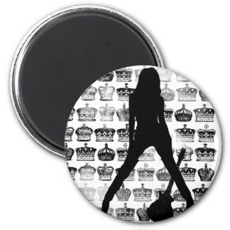 PRINCESS OF ROCK 6 CM ROUND MAGNET