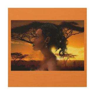 Princess of the Sun Wood Print