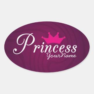 Princess Oval Stickers
