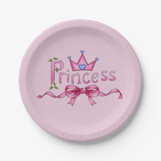 Princess Paper Plates 7 Inch Paper Plate