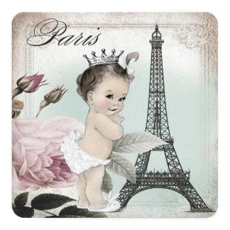 Princess Paris Baby Shower 13 Cm X 13 Cm Square Invitation Card