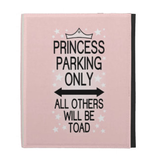 Princess Parking Only iPad Folio Cover