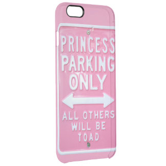 Princess parking only clear iPhone 6 plus case