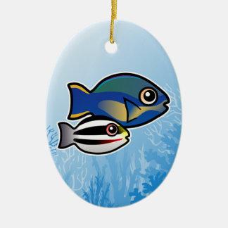 Princess Parrotfish Ceramic Ornament