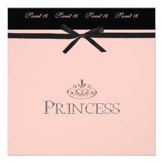 Princess Party Invitation Sweet 16