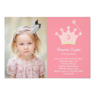 "Princess Party Photo Birthday Invitation 5"" X 7"" Invitation Card"