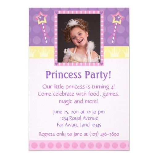Princess Party Photo Invitation
