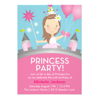 Princess Party -Pink Announcement
