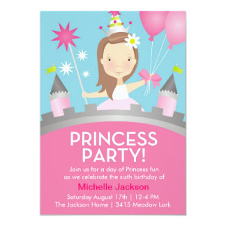Princess Party -Pink Card