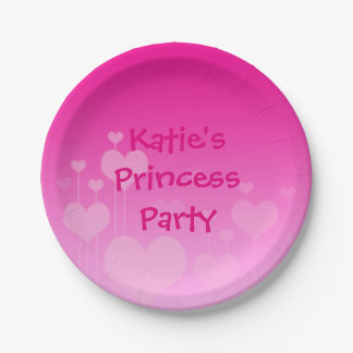 Princess party plate 7 inch paper plate