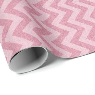 Princess Pastel Pink Rose Chevron Zig Zag Blush Wrapping Paper