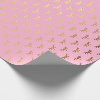 Princess Pastel Pink Rose Diadem Crown Gold