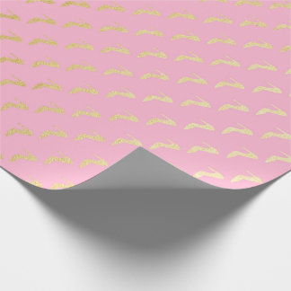 Princess Pastel Pink Rose Gold High heels Wrapping Paper