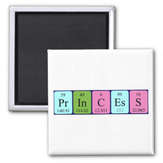 Princess periodic table name magnet