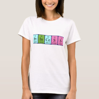 Princess periodic table name shirt