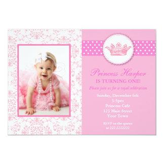 Princess Photo Birthday Invitations