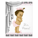 Princess Pink and Grey Baby Girl Shower Custom Invite