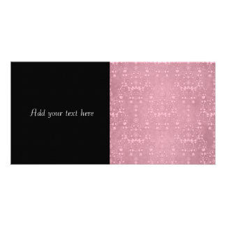 Princess Pink Girly Floral Damask Pattern Photo Greeting Card