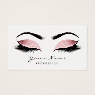 Princess  Pink Makeup Artist Lashes Beauty Studio Business Card