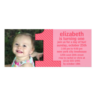Princess Pink One Is Fun Photo First Birthday Part Invitation