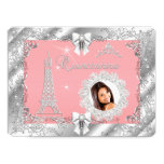 Princess Pink PEACH Quinceanera Silver Photo BIG