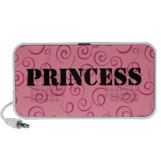 Princess Pink Swirl Doodle Mini Speaker