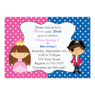 Princess Pirate Invitation Kids Birthday Party