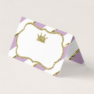 Princess Place Cards, Food Cards, Faux Gold Place Card