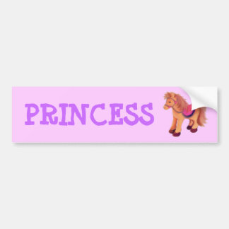 Princess Pony Bumper Stickers
