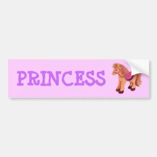Princess Pony Bumper Sticker