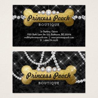 Princess Pooch Dog Care Vet Walker Bone Gold Business Card
