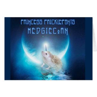 Princess Pricklepants HedgiCorn Note Card
