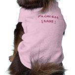 Princess puppy sleeveless dog shirt