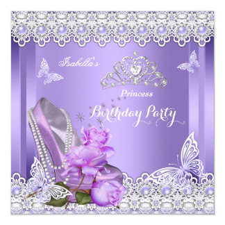 Purple Glitter Birthday Cakes With Glitter High Heel