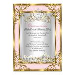 Princess Quinceanera 15th Birthday Pink Peach 13 Cm X 18 Cm Invitation Card