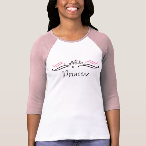 Princess Scroll Crown Baseball Shirt
