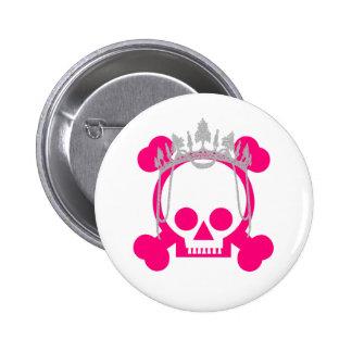 Princess Skull 6 Cm Round Badge
