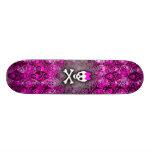 Princess Skull & Bones Skateboard